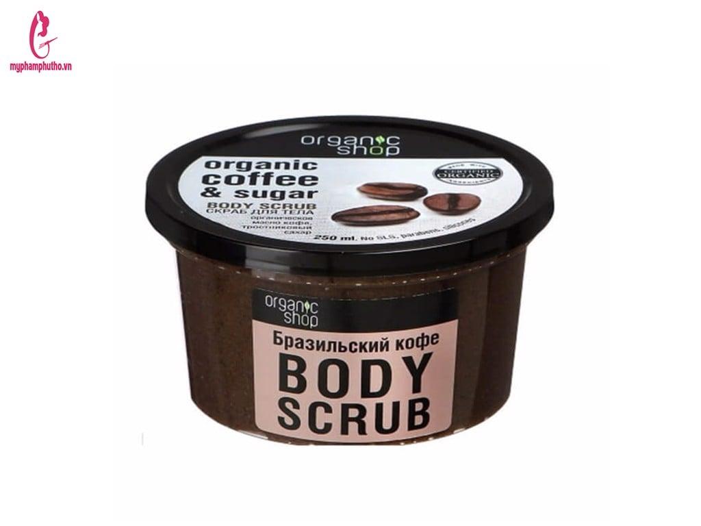 Tẩy da chết toàn thân Organic Coffee & Sugar Body Scrub