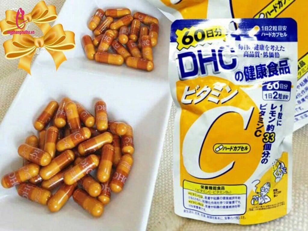 thành phần Viên Uống Trắng Da Vitamin C DHC Nhật Bản