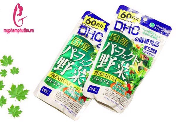 Viên Uống Bổ Sung 32 Loại Rau Củ DHC Premium Nhật Bản 60 Ngày