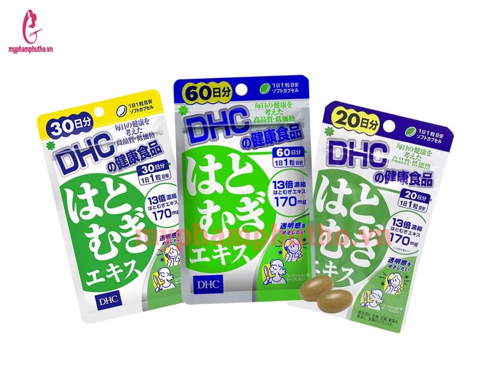 Viên uống trắng da DHC Coix Extract Nhật Bản Màu Xanh