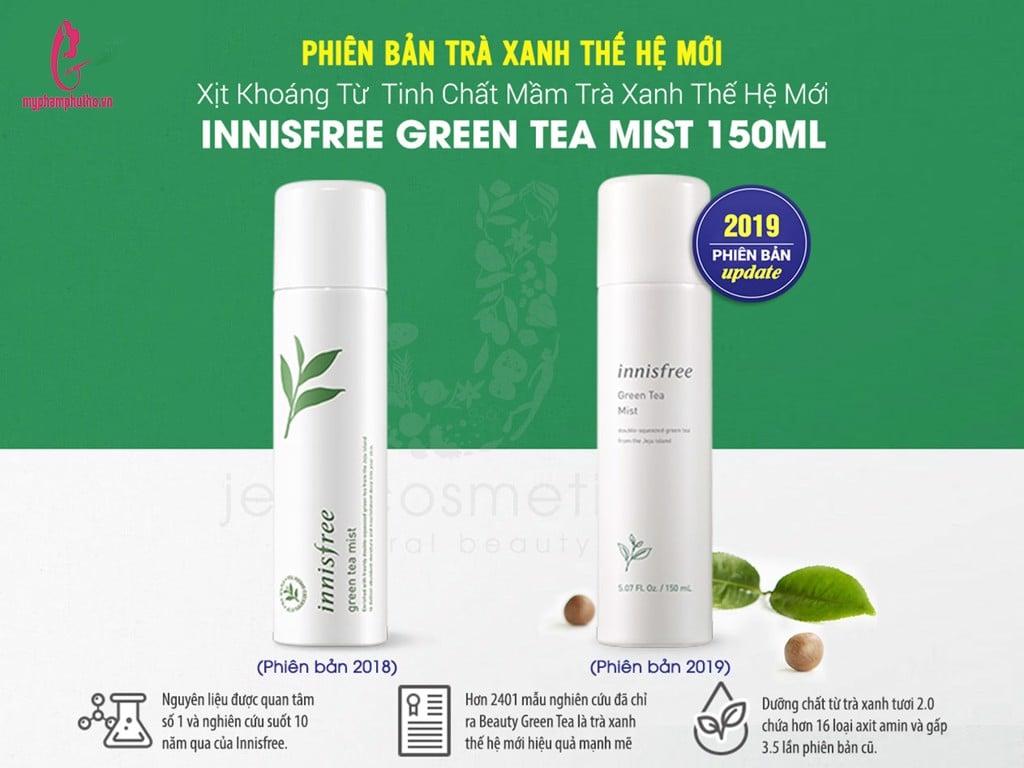 Xịt Khoáng Trà Xanh Innisfree Green Tea Mist