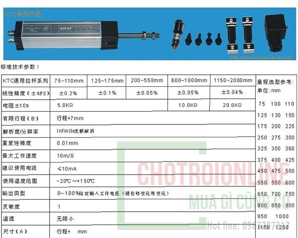 Máy đo điện tử cảm biến dịch chuyển tuyến tính KTC