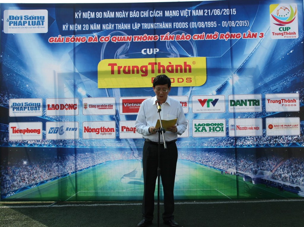 TrungThanh Foods held Football League press expanded competing for TrungThanh CUP III - 2015