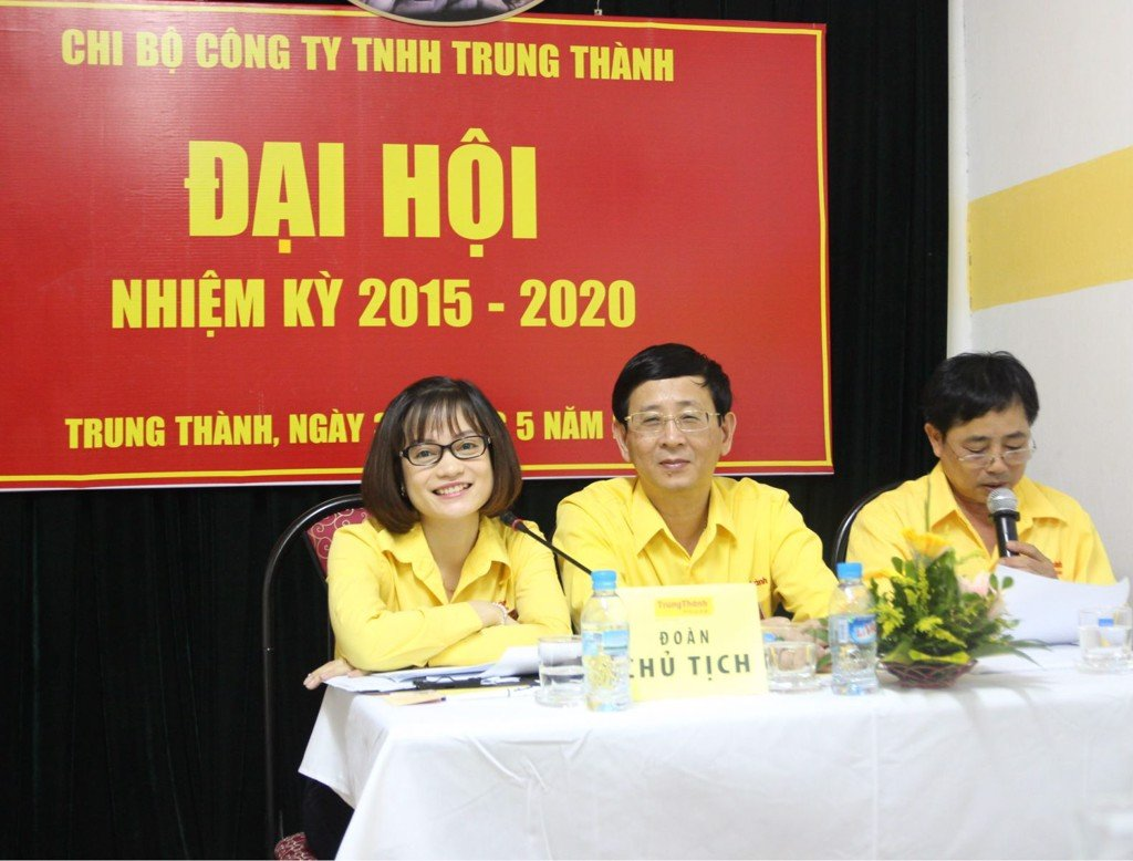 TrungThành organize party committee congress, tenure 2015 - 2020