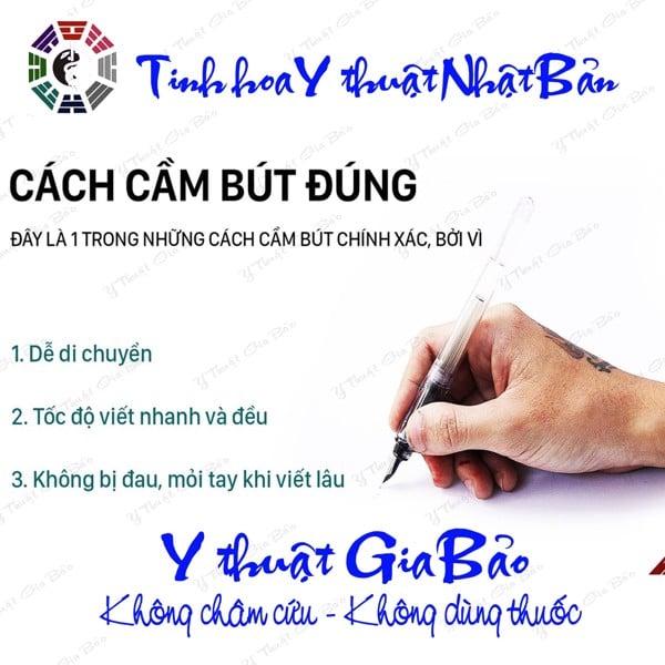 cách cầm bút đúng vừa viết nhanh, không đau vai, không đau tay