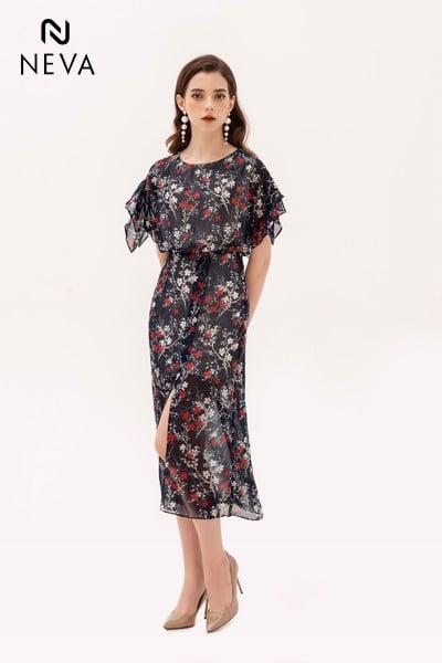 váy voan hoa, đầm voan hoa, váy voan hoa nhí dáng dài, đầm voan hoa nhí, chân váy voan hoa nhí, đầm voan hoa nhí đẹp, chân váy voan hoa hàn quốc