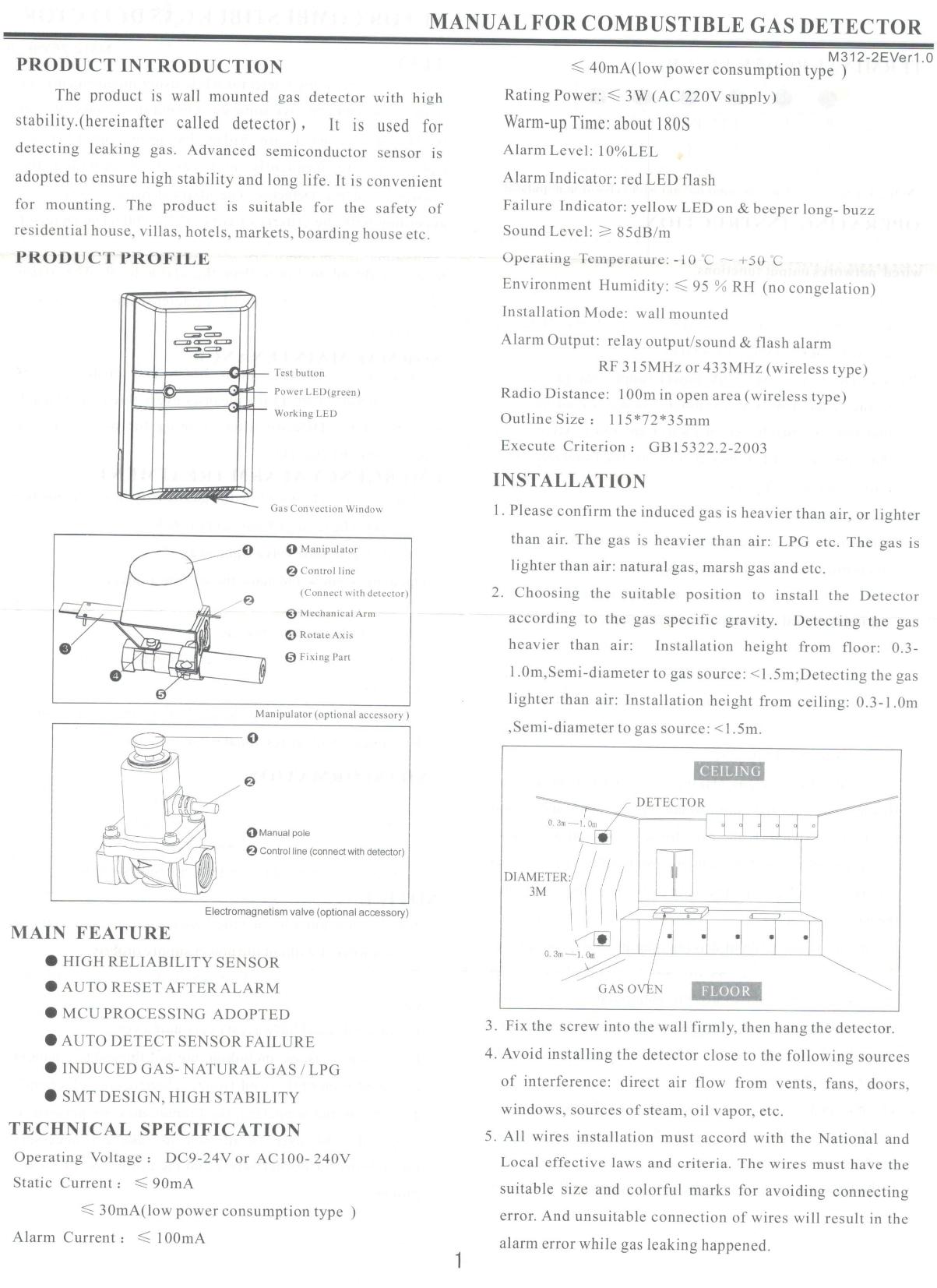 Thiết bị báo rò rỉ khí Gas HD-111