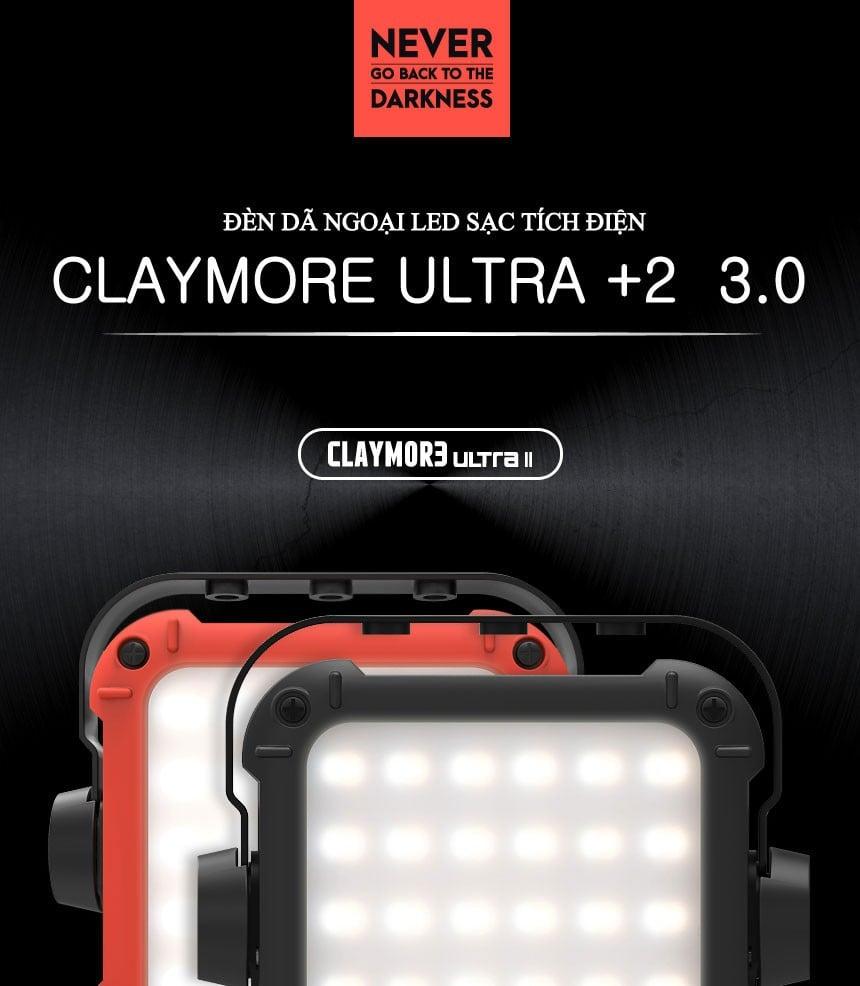 Đèn tích điện Claymore 1000P