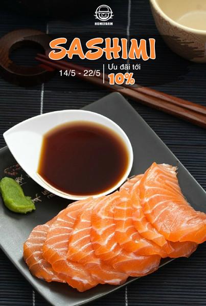 Trọn vẹn các sản phẩm làm món Sashimi tươi ngon tại Homefarm