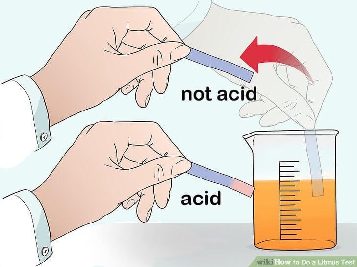 Giấy quỳ tím thử axit