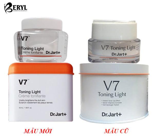 kem dưỡng trắng da v7 toning light