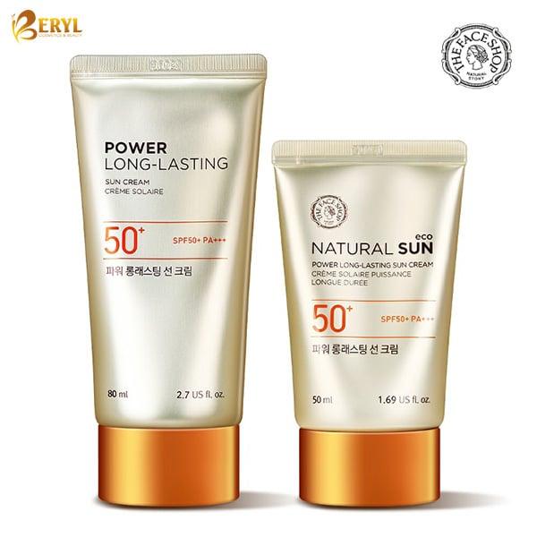 Kem Chống Nắng The Face Shop Power Long Lasting Sun Cream
