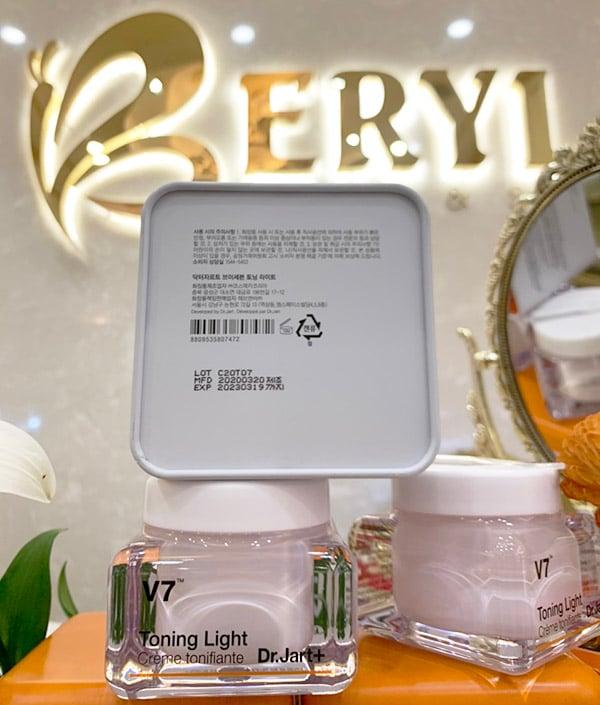 Kem dưỡng trắng da, trị nám V7 Toning Light Dr.Jart+ 50ml Hàn Quốc Chính Hãng