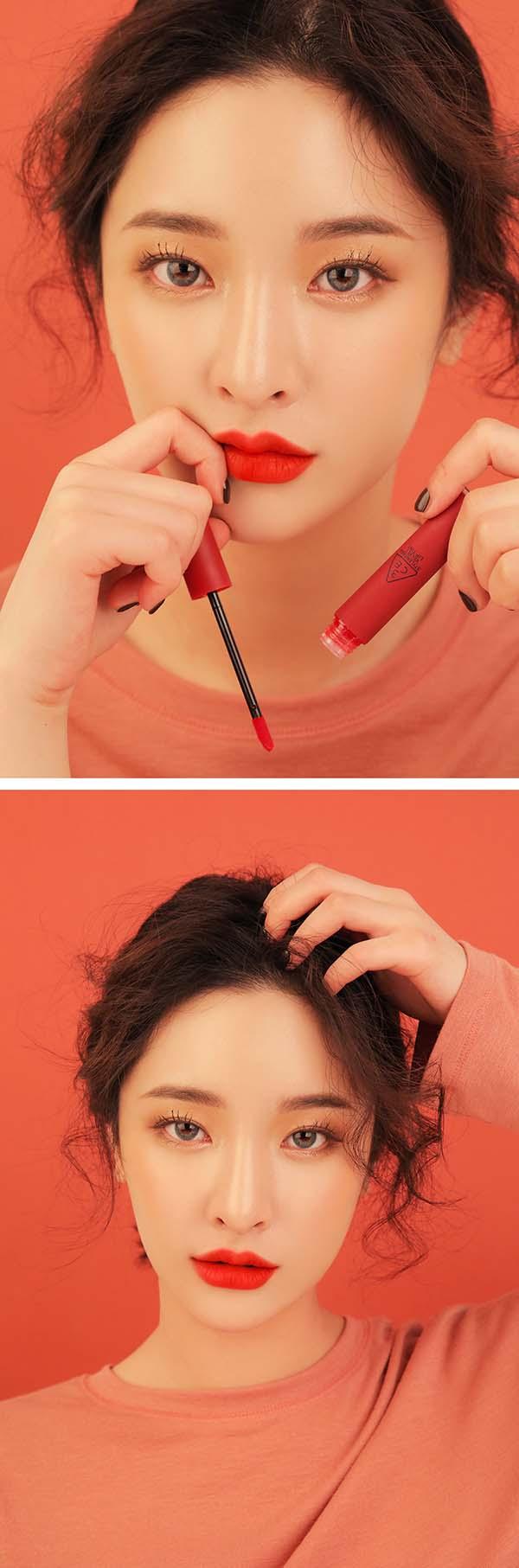Son 3CE Velvet Lip Tint Childlike Đỏ Cam