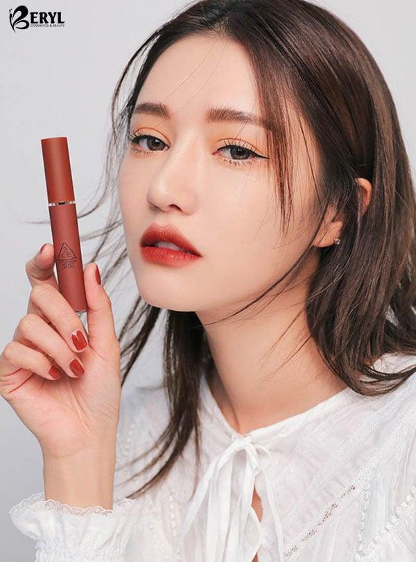 Son 3CE Velvet Lip Tint Taupe – Màu Đỏ Nâu