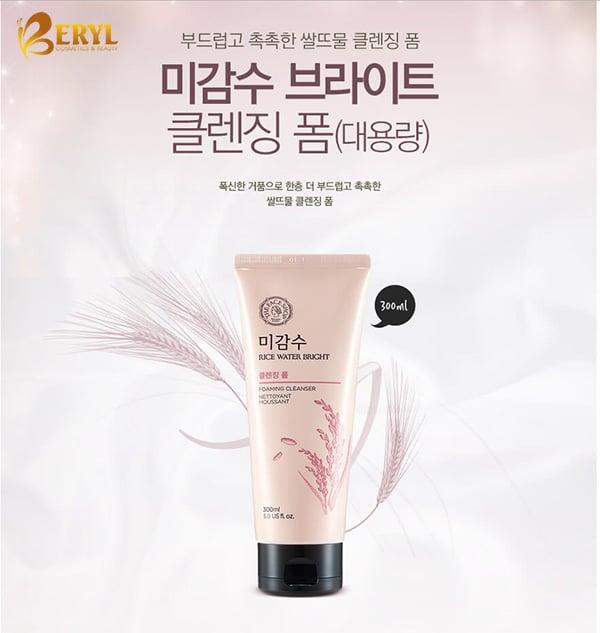 Sua-rua-mat-gao-The-Face-Shop-Rice-Water-Bright-Cleansing-Foam-