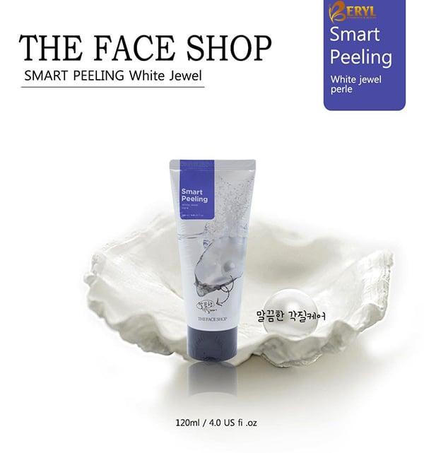Tẩy tế bào chết ngọc trai The Face Shop Smart Peeling White Jewel