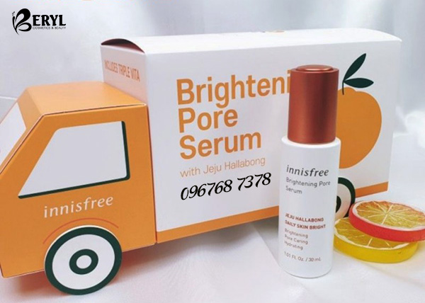 Tinh chất dưỡng trắng da Innisfree Brightening Pore Serum 30ml