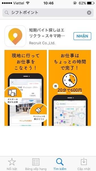 Ứng dụng hữu ích cho cuộc sống ở Nhật