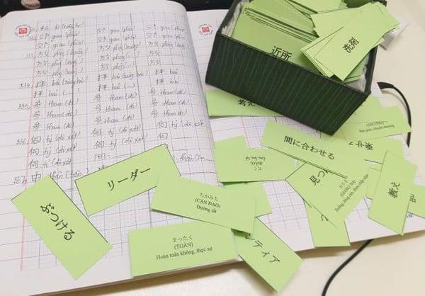 Flashcard từ vựng tiếng Nhật