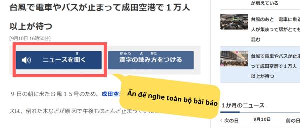 đọc báo tiếng Nhật NHK