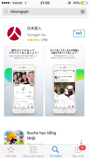 Ứng dụng học tiếng Nhật