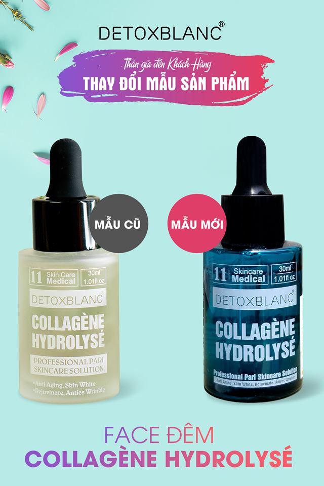 Collagen thủy phân dưỡng da ban đêm chống lão hóa Detox BlanC