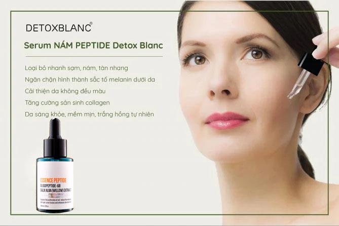 tác dụng serum trị nám detox blanc