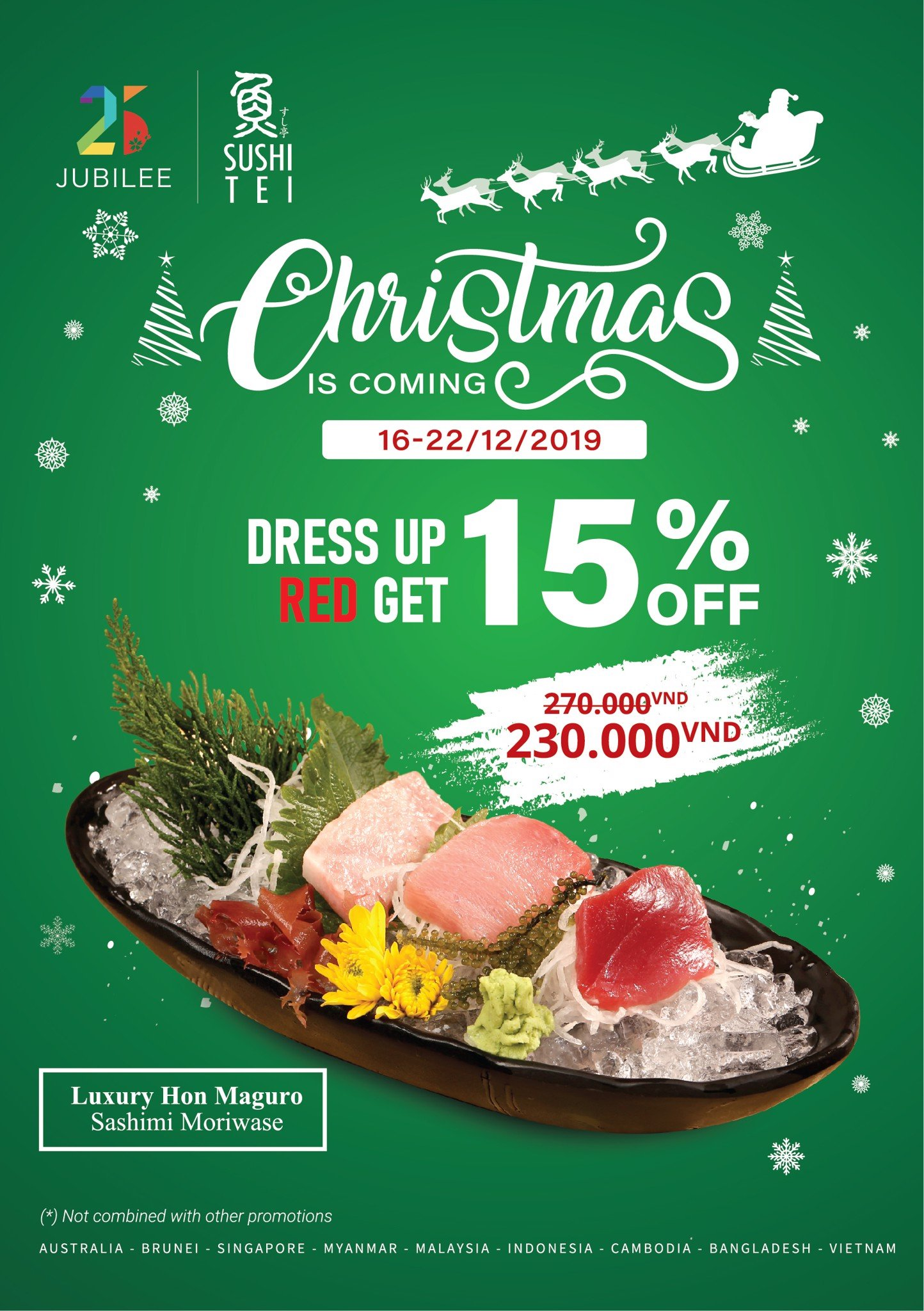 [CHRISTMAS IS COMING] LET'S DRESS UP RED AND GET 15% OFF FOR LUXURY TUNA