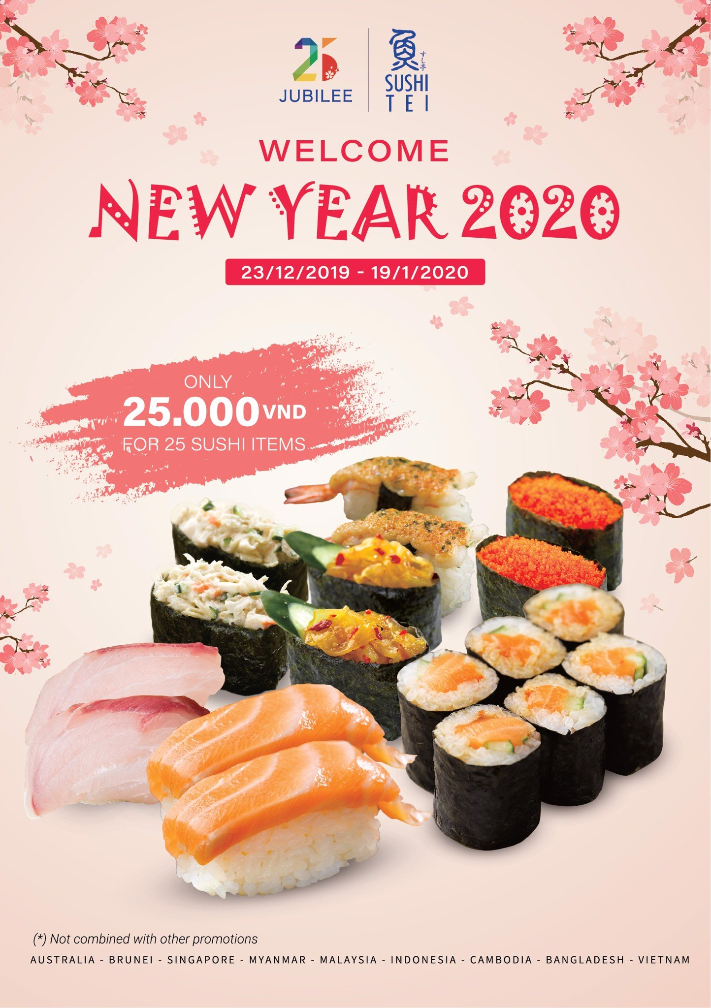 [25 SUSHI TEI JUBILEE EVENTS] 25 SUSHI ITEMS WITH 25,000VND FOR 25 SUSHI TEI BRAND