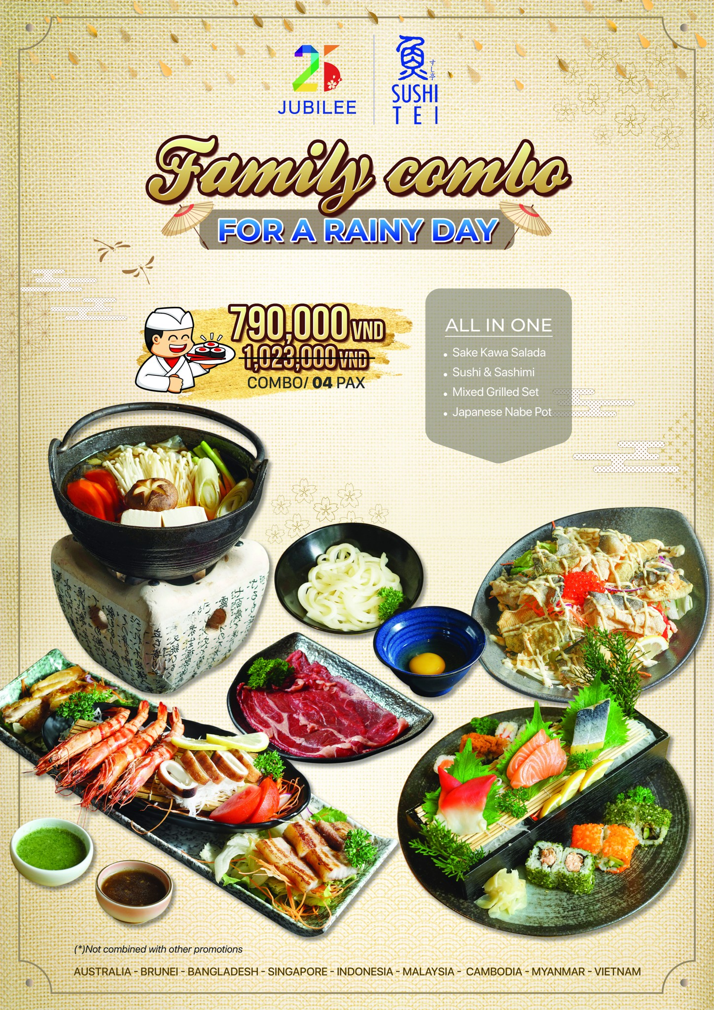 [RAINY PROMOTION] SUSHI TEI FAMILY COMBO