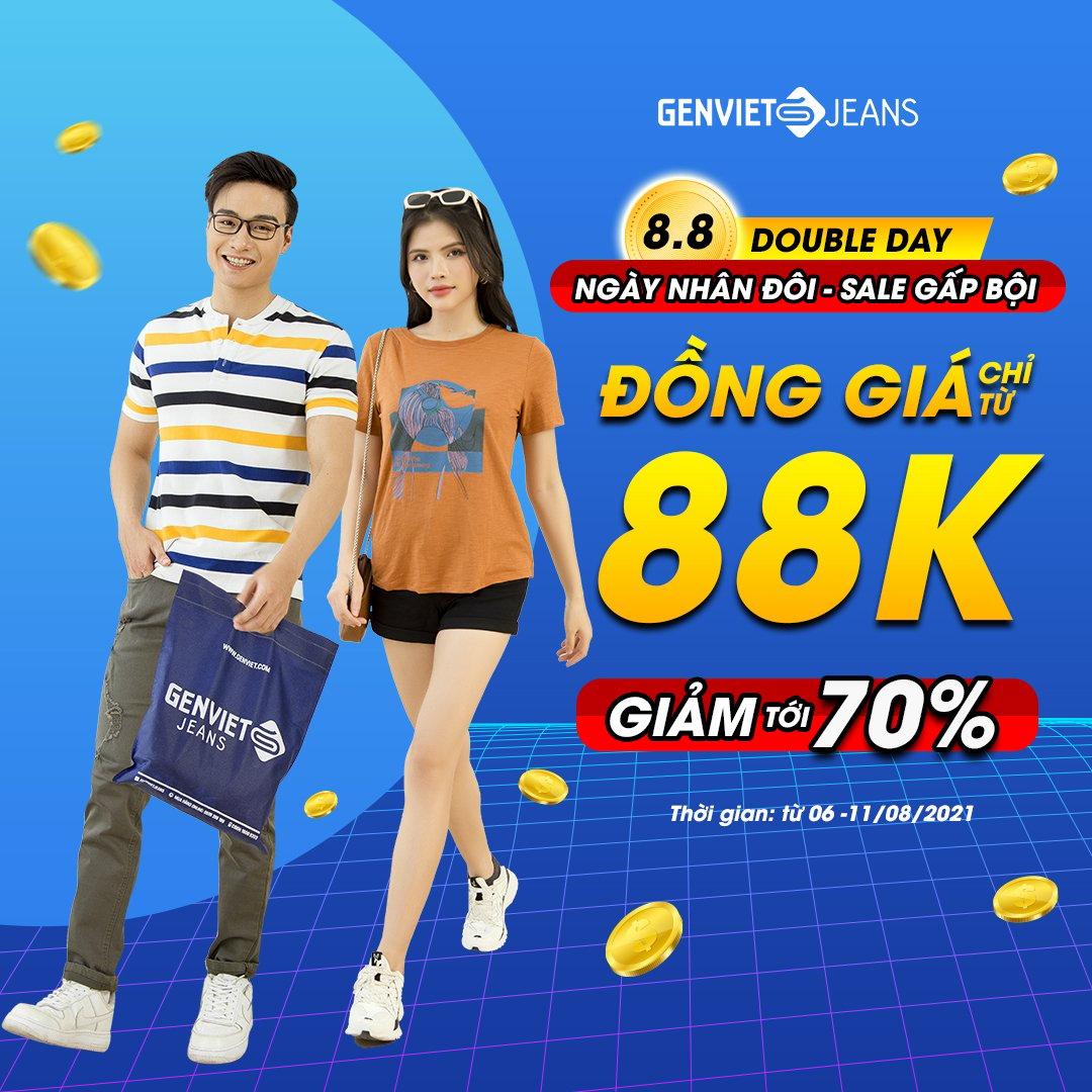 GENVIET JEANS SALE 8/8 | ĐỒNG GIÁ TỪ 88K - SALE UP TO 70%