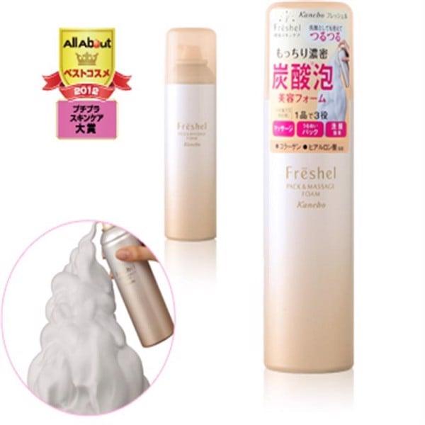 sữa rửa mặt tạo bọt Kanebo Freshel Pack & Massage