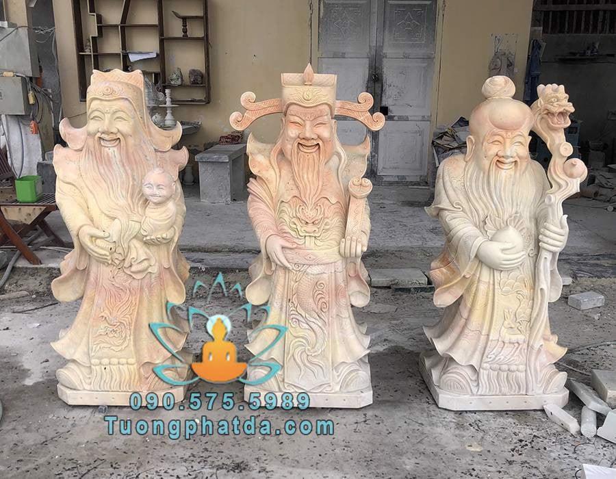 Bộ tượng Tam Đa bằng đá vàng cao 1.2m đá non nước Đà Nẵng