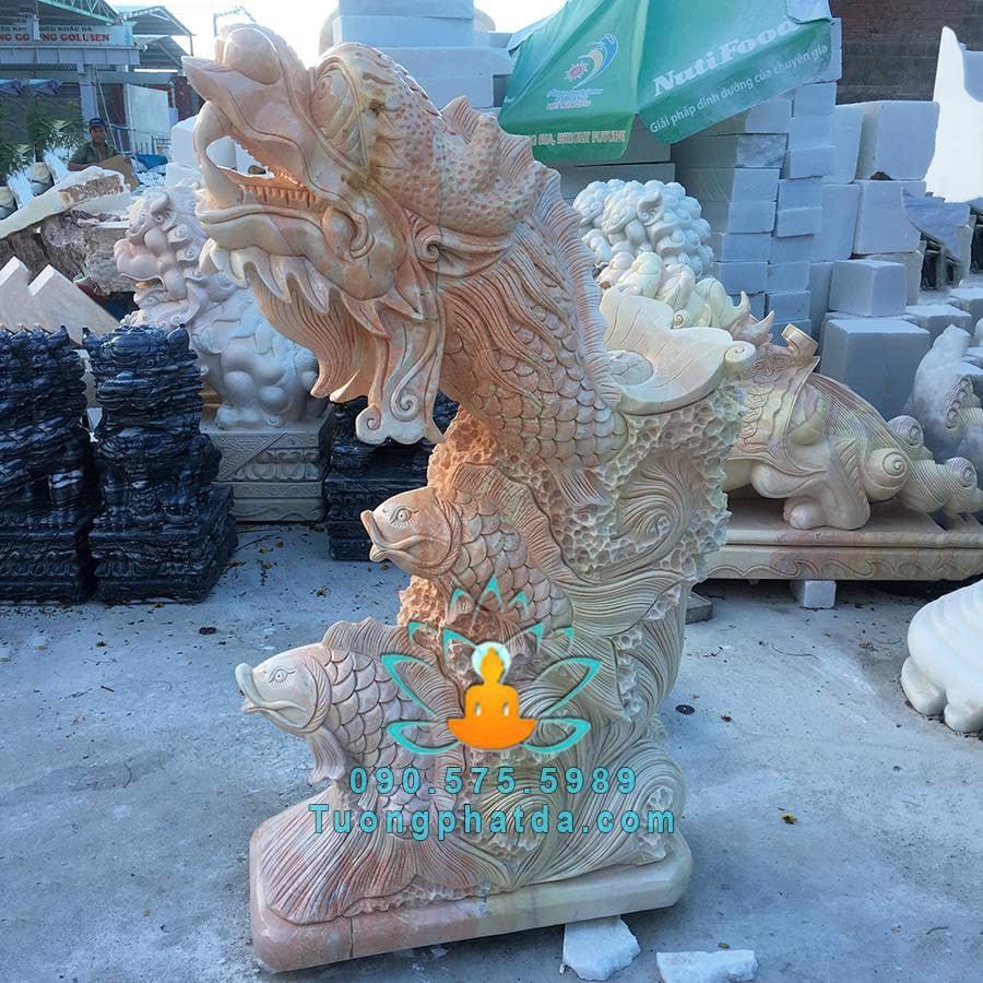 Cá chép đá vàng vượt vũ môn hóa rồng