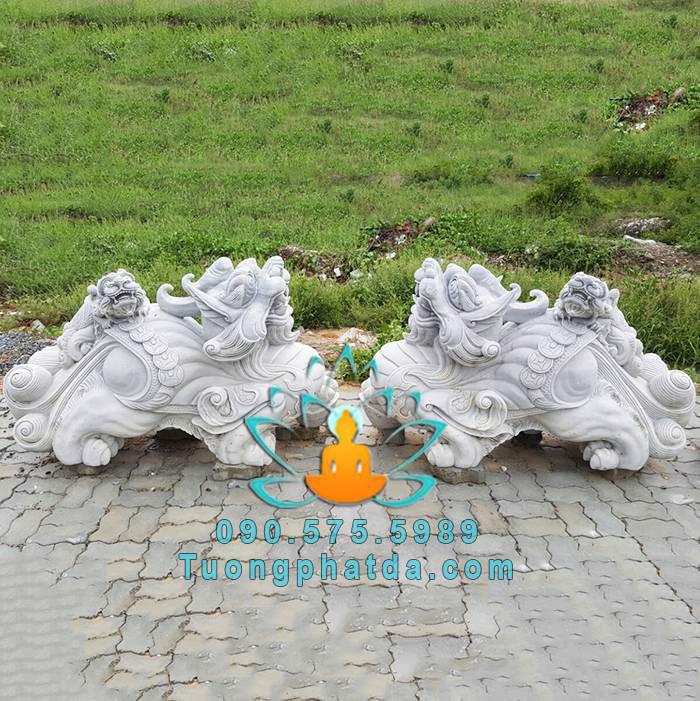 Tượng tỳ hưu bằng đá cẩm thạch đẹp