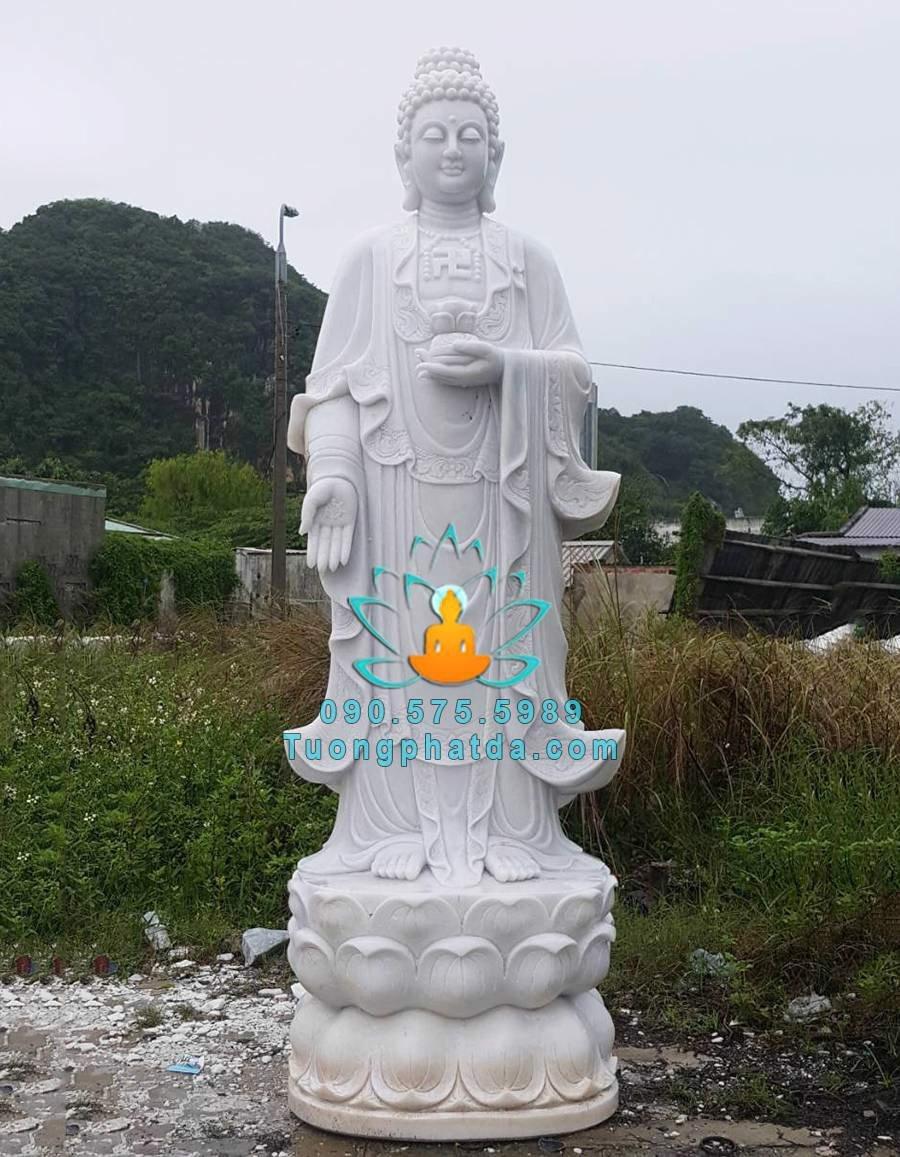 Tượng Phật A Di Đà Bằng Đá Non Nước Đà Nẵng