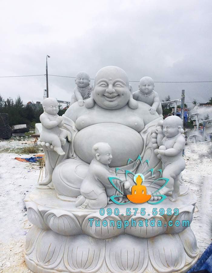 Tượng Phật Di Lặc Ngũ Phúc Bằng Đá Đẹp Đà Nẵng