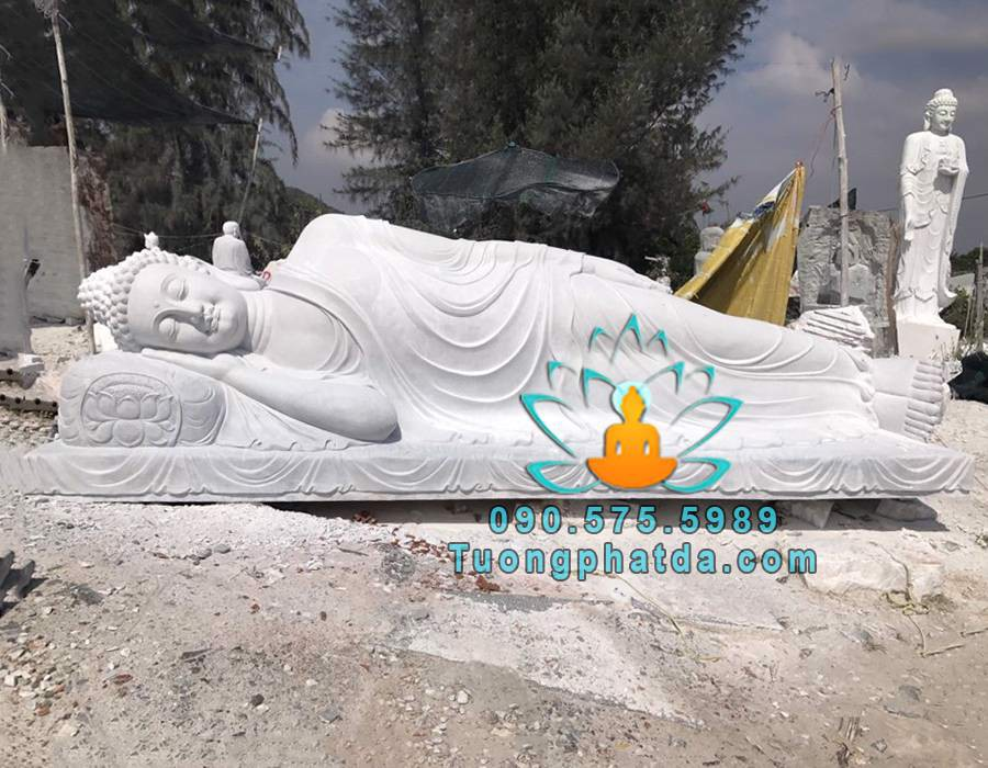 Tượng Đá Phật Thích Ca Nhập Niết Bàn Đẹp