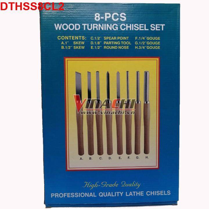 Bộ dao tiện, đục gỗ HSS bộ 8 cái - Loại 2