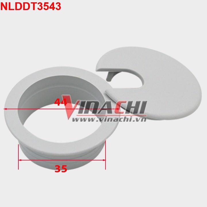 Nắp luồn dây điện tròn - 35x43 - trắng