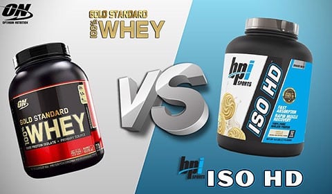 So sánh Whey Iso HD và Whey Gold Stnadard