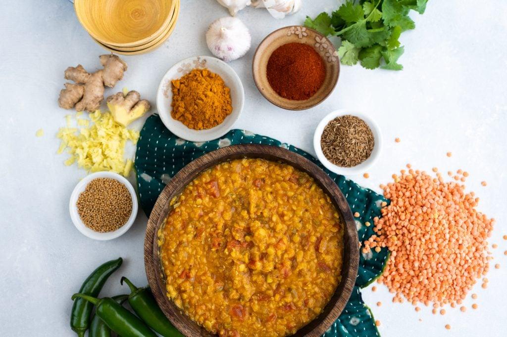 Hướng dẫn nấu Masoor Dal (đậu lăng đỏ Ấn Độ)