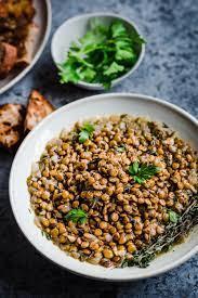 Công thức món đậu lăng nâu cho người ăn thuần chay