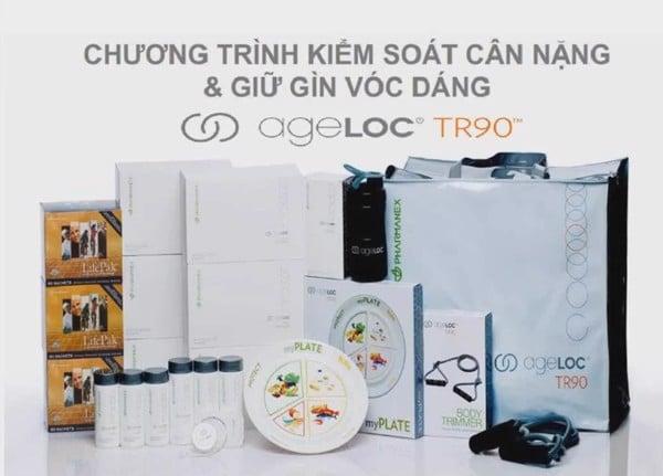 bộ sản phẩm Ageloc TR90 Hương Vani