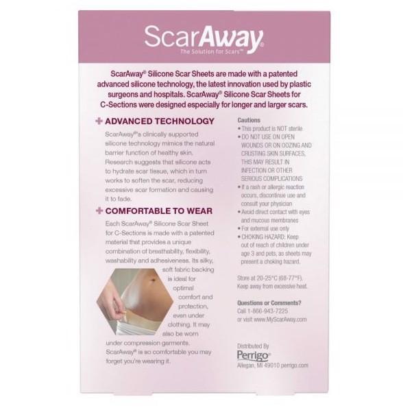 Miếng dán trị sẹo ScarsAwayfor C-Sections Silicone Scar Sheets 4 miếng giá bao nhiêu