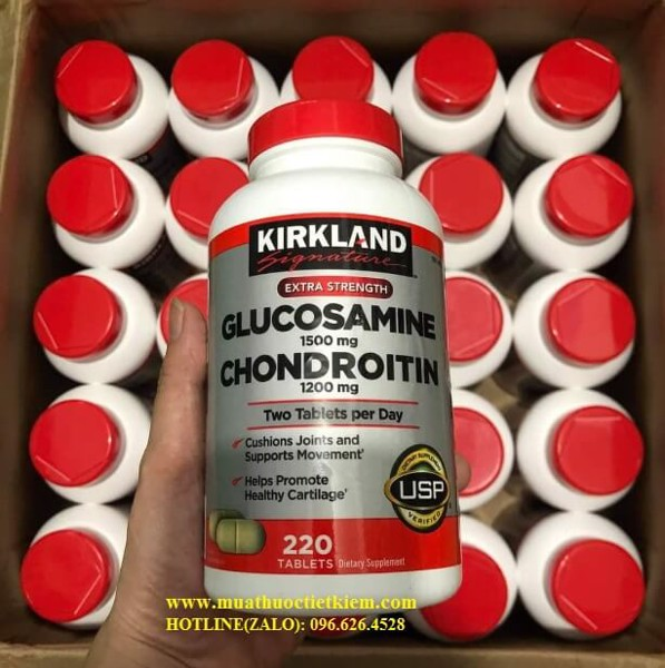 Giá thuốc glucosamine chondroitin Thuốc bổ khớp kirkland glucosamine 1500mg & chondroitin 1200mg giá bao nhiêu mua ở đâu