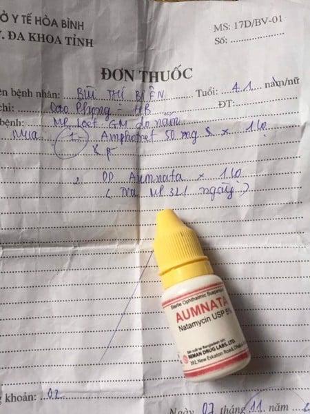đơn thuốc nhỏ mắt aumnata