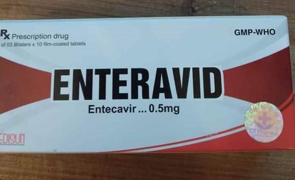 Thuốc ENTERAVID 0,5 mg (Entecavir) giá bao nhiêuMua ở đâu