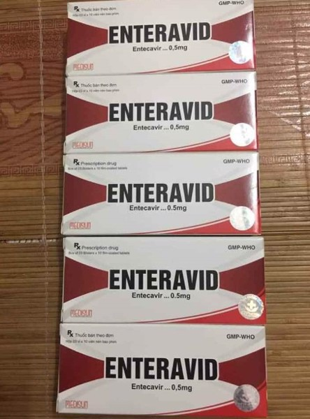 Thuốc ENTERAVID 0,5 mg (Entecavir) hà nội